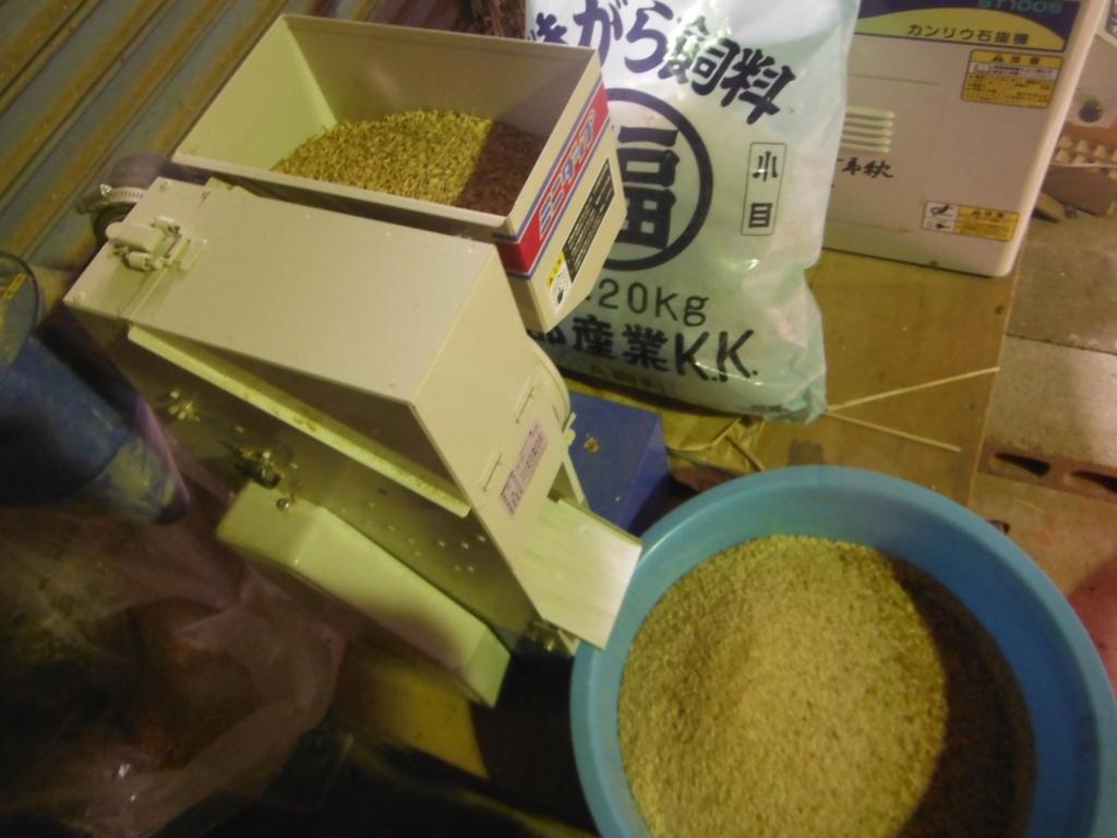 家庭用、籾摺り機のミニダップ。