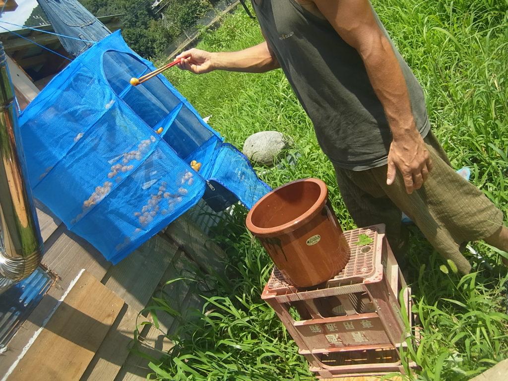 天気のいい日に、土用干しをする。