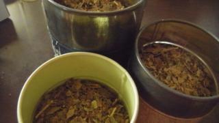 自家製びわの葉茶。