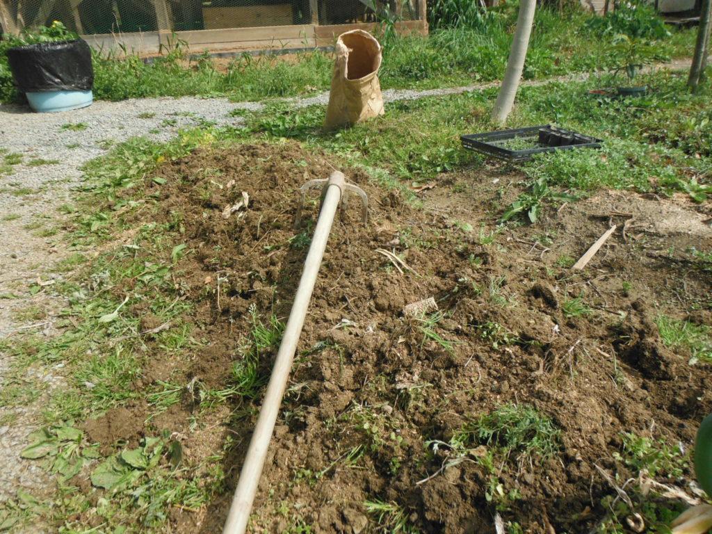 よつグワで耕す。