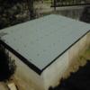 井戸小屋の屋根のリフォーム。