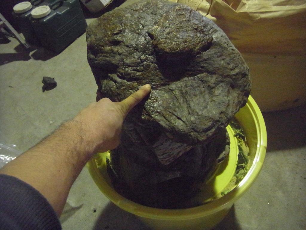 70キロの重石がのる。