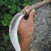 鋸鎌の柄を交換修理。