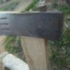 斧の柄を修理。