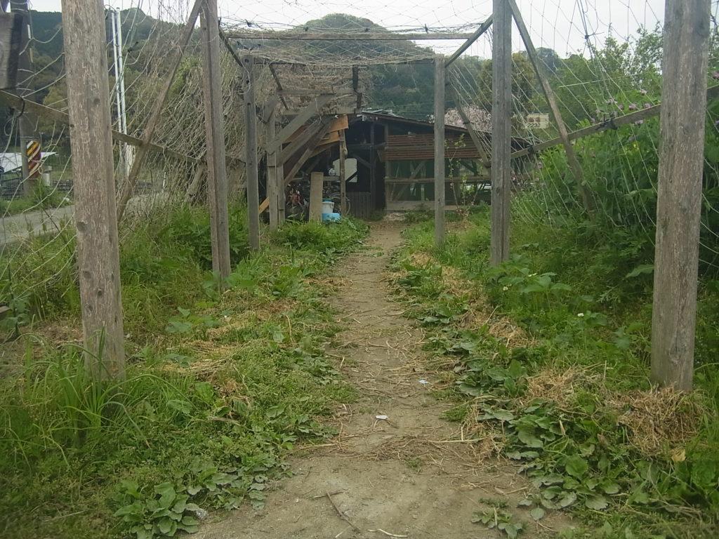 農園の入口。