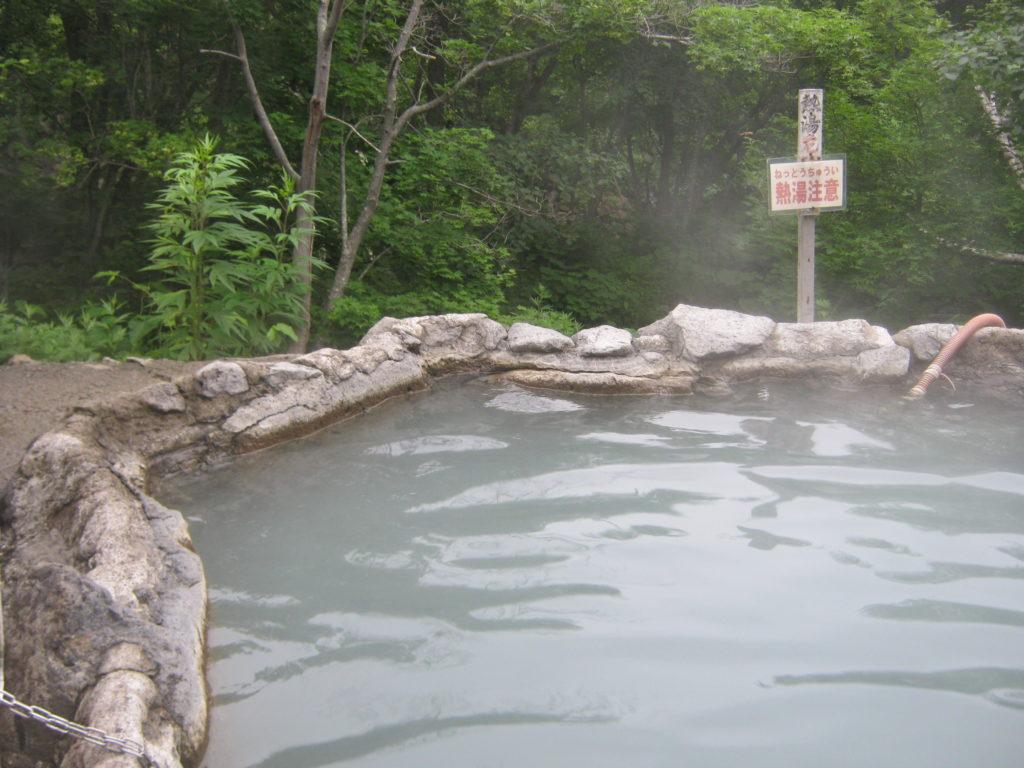 露天風呂、熊の湯。