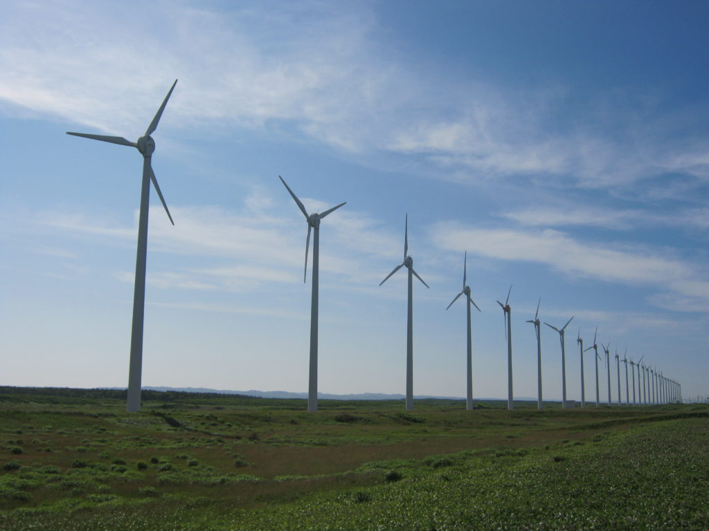 オトンルイ風力発電所。