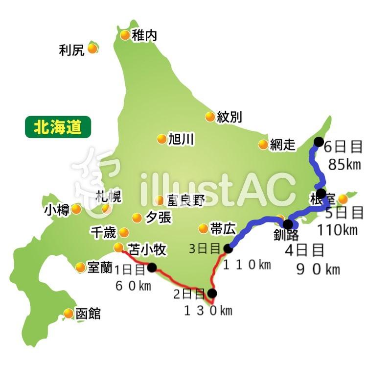 北海道走行記録4日目から6日目。