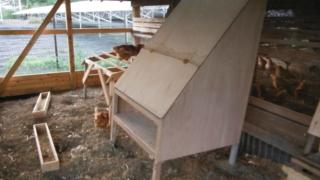 鶏小屋の産卵箱の作り方。