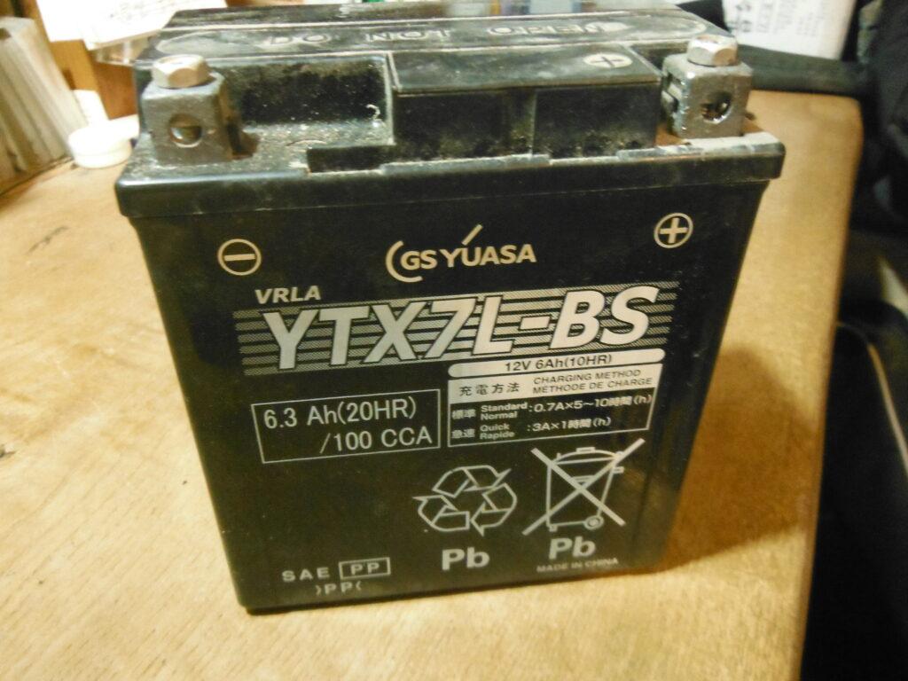 グラストラッカーのバッテリー。