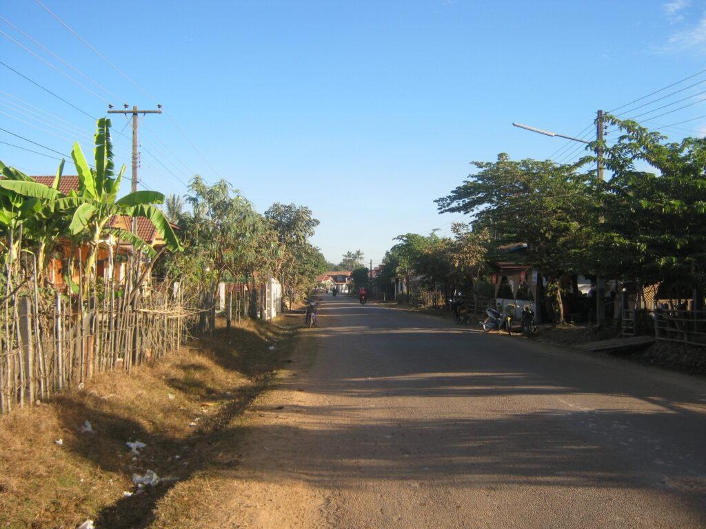 チャムパーサックの通り。