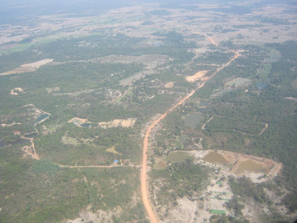 ラオス空からの景色。
