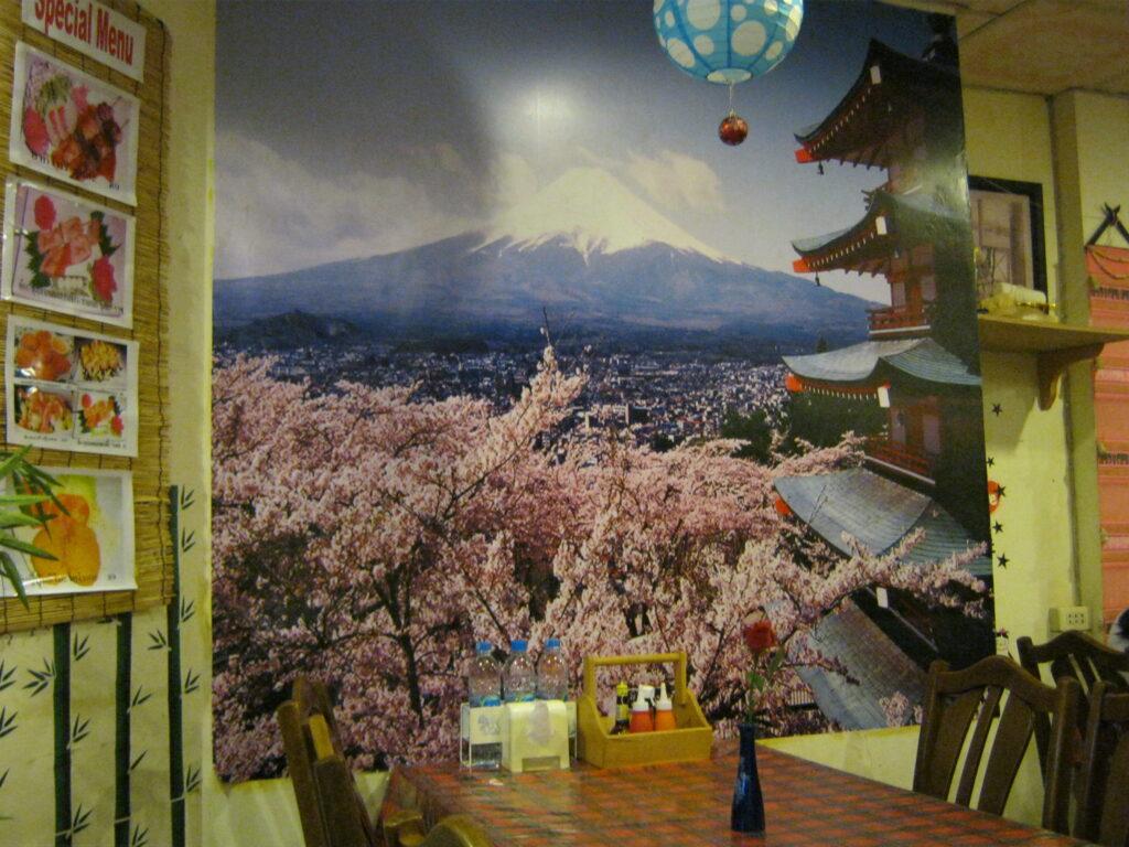 富士山のポスター。