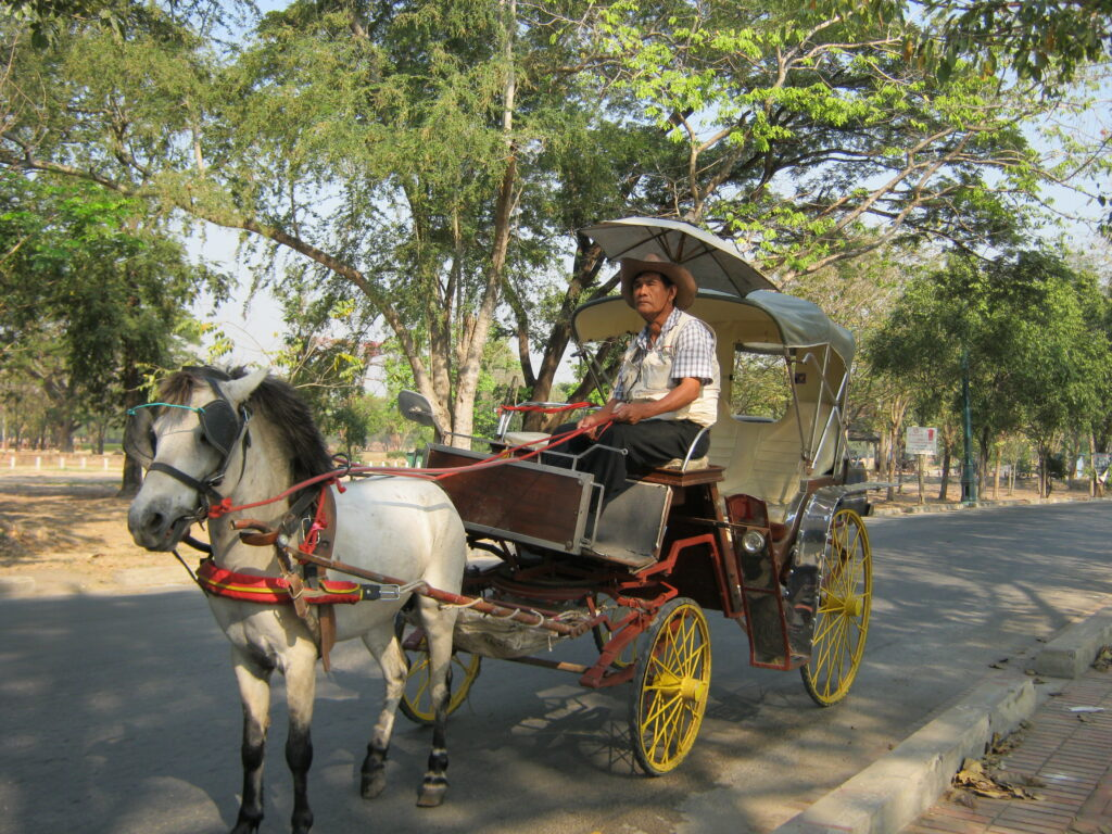 アユタヤで見つけた馬車。