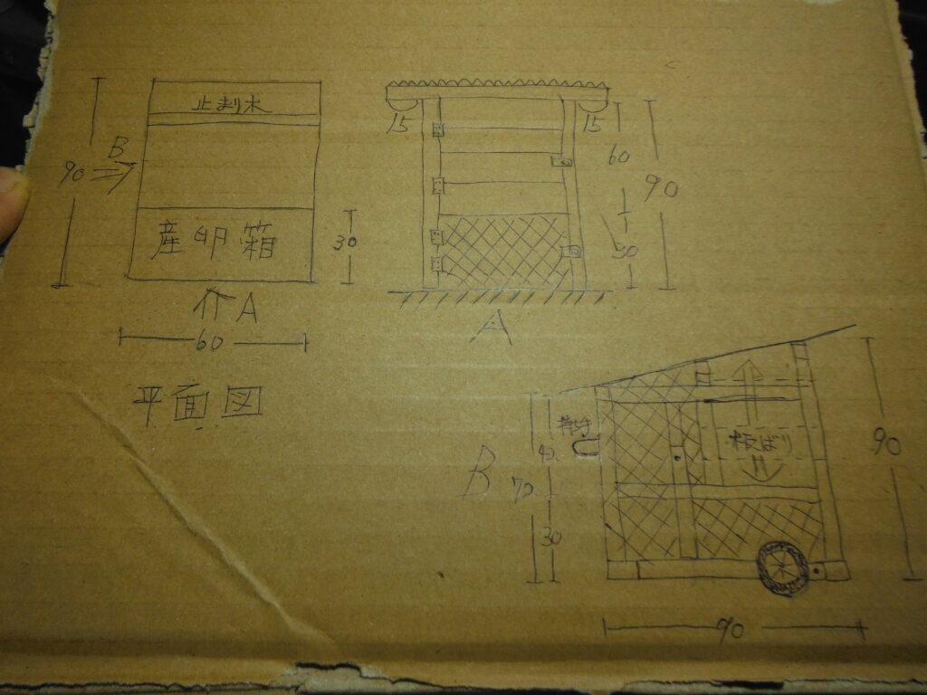 チキントラクターの設計図。