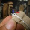 ミシン縫い袋の開け方。